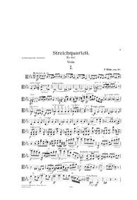 String Quartet in E flat major (Ein Trib... by Klose, Friedrich