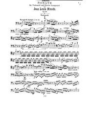 Cello Sonata, Op.23 : Cello Part Volume Op.23 by Nicodé, Jean Louis