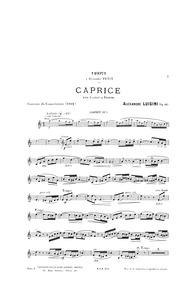 Caprice, Op.60 : Cornet Part by Luigini, Alexandre