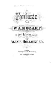 Fantasia (Organ Piece for a Clock) : Pia... Volume K.608 by Mozart, Wolfgang Amadeus