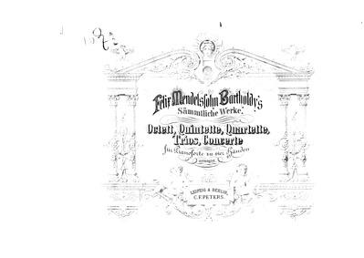 String Octet, Op.20 : Complete Score Volume Op.20 by Mendelssohn, Felix