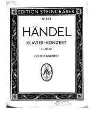 6 Organ Concertos, HWV 289-294 (Op.4) : ... Volume HWV 289-294 (Op.4) by Handel, George Frideric