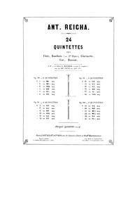 Wind Quintet, Op.99 No.5 : Bassoon Volume Op.99 No.5 by Reicha, Anton