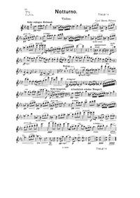 Notturno : Violin Part by Pillney, Karl Hermann
