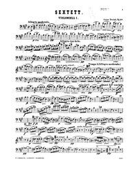 String Sextet, Op.48 : Cello 1 Volume Op.48 ; B.80 by Dvořák, Antonín