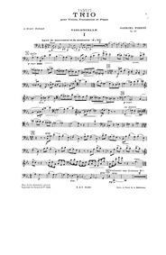 Piano Trio (Trio pour Violon, Violoncell... Volume Op.45 by Pierné, Gabriel
