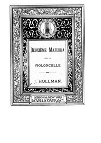 Mazurka No.2 : Piano Score by Hollman, Joseph