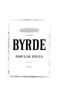 Selected Keyboard Pieces : Complete Scor... by Byrd, William