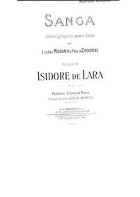 Sanga (Drame lyrique en trois actes) : C... by De Lara, Isidore