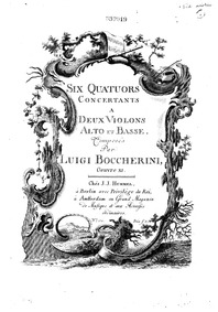 6 String Quartets, G.189-194 (Op.24) (Se... Volume Op.24 in Boccherini's autograph catalogue, published as Op.27 by Boccherini, Luigi