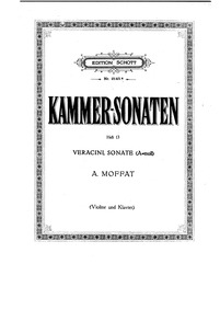 Kammer-Sonaten : Piano score (Nos.13-26) by Moffat, Alfred