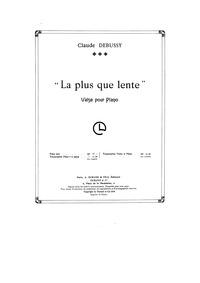 La plus que lente : Violin Part Volume CD 128 ; L.121 by Debussy, Claude