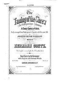 Der Widerspenstigen Zähmung (Komsiche Op... by Goetz, Hermann