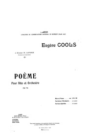 Poème, Op.74 : Piano Score Volume Op.74 by Cools, Eugène