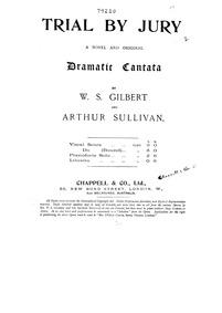 Trial by Jury : Complete Score by Sullivan, Arthur