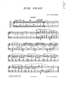 Pie Jesu : Harp Part by Boulanger, Lili