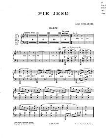 Pie Jesu : Harp Part by Boulanger, Lili