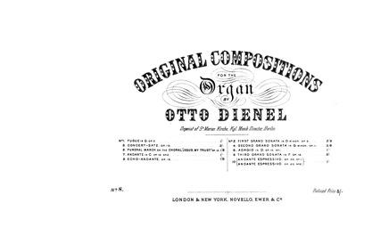 Grand Sonata No.3, Op.18 : Complete Scor... Volume Op.18 by Dienel, Otto