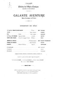 Galante aventure (Opéra-comique en trois... by Guiraud, Ernest
