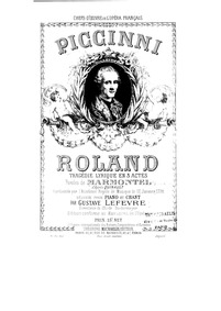 Roland : Complete Score by Piccinni, Niccolò