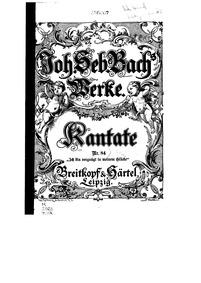 Ich bin vergnügt mit meinem Glücke (I am... Volume BWV 84 by Bach, Johann Sebastian