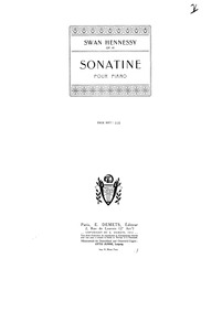 Sonatine, Op.43 : Complete Score Volume Op.43 by Hennessy, Swan