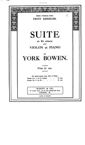 Suite for Violin and Piano, Op.28 : Viol... by Bowen, York