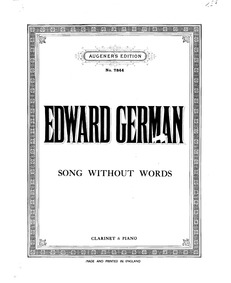 Song Without Words : Clarinet and Piano ... by German, Edward
