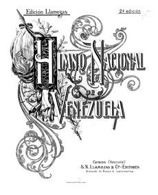 Himno Nacional Gloria al Bravo Pueblo (H... by Landaeta, Juan José