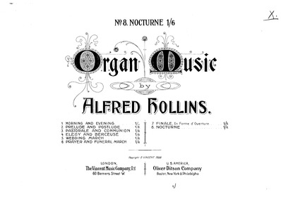 Nocturne : Complete Score by Hollins, Alfred