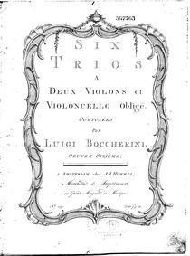 6 String Trios, G.83-88 (Op.4) : Violin ... Volume G.83-88, Op.4 in Boccherini's autograph catalogue by Boccherini, Luigi