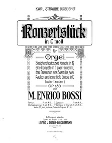 Konzertstück for Organ and Orchestra, Op... Volume Op.130 by Bossi, Marco Enrico