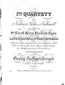 String Quartet No.1, Op.1 : Complete Par... Volume Op.1 by Hellmesberger Sr., Georg