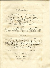 Flute Quartet No.2, Op.38 : Flute Volume Op.38 by Fesca, Friedrich Ernst