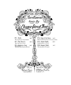 Songs, Op.12 : 3. Galloping Song by Freer, Eleanor Everest