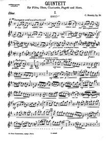 Wind Quintet, Op.58 : Clarinet (in A, ♭;... Volume Op.58 by Rorich, Karl