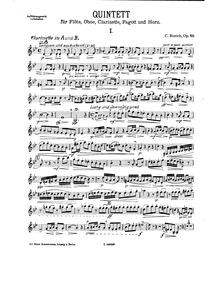 Wind Quintet, Op.58 : Oboe Volume Op.58 by Rorich, Karl