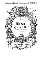 String Quartet No.2 (Divertimento) : Vio... Volume K.155 ; K6.134a by Mozart, Wolfgang Amadeus