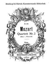 String Quartet No.2 (Divertimento) : Vio... Volume K.155 ; K6.134a by Mozart, Wolfgang Amadeus