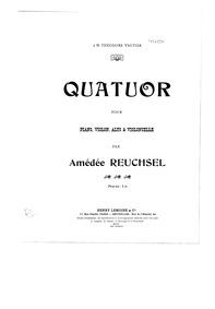 Piano Quartet (Quatuor pour Piano, Violo... by Reuchsel, Amédée