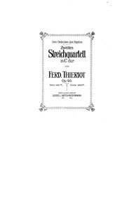 String Quartet No.2, Op.93 : Cello Volume Op.93 by Thieriot, Ferdinand