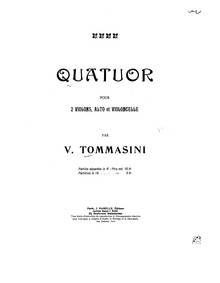String Quartet : Cello by Tommasini, Vincenzo