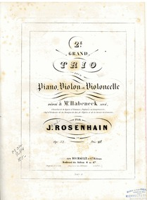 Piano Trio No.2, Op.32 : Piano Volume Op.32 by Rosenhain, Jacob