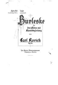 Burleske, Op.64 : Complete Score Volume Op.64 by Rorich, Karl