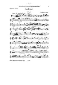 Burleske, Op.64 : Flute 1 Part Volume Op.64 by Rorich, Karl