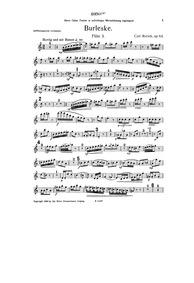 Burleske, Op.64 : Flute 3 Part Volume Op.64 by Rorich, Karl