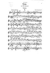 Piano Trio, Op.107 : Violin Volume Op.107 by Bossi, Marco Enrico