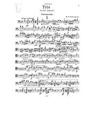 Piano Trio, Op.107 : Cello Volume Op.107 by Bossi, Marco Enrico