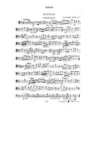 Elégie, Op.16 : Violoncello Volume Op.16 by Krein, Aleksandr