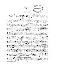 Piano Trio No.2, Op.62 : Violoncello Volume Op.62 by Martucci, Giuseppe